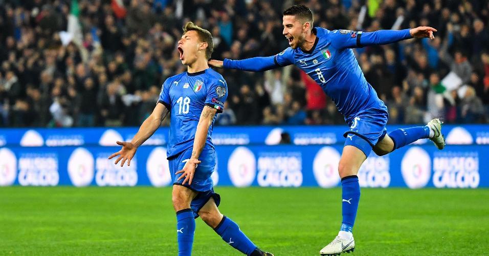 Barella abriu o placar para a Itália nas Eliminatórias da Euro