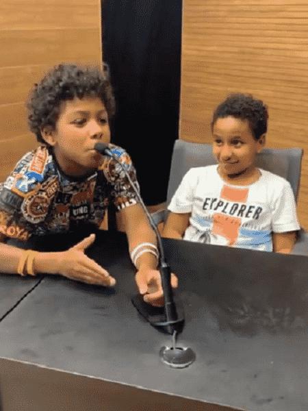 Filhos de Thiago Silva montaram seleção ideal - Reprodução/Instagram
