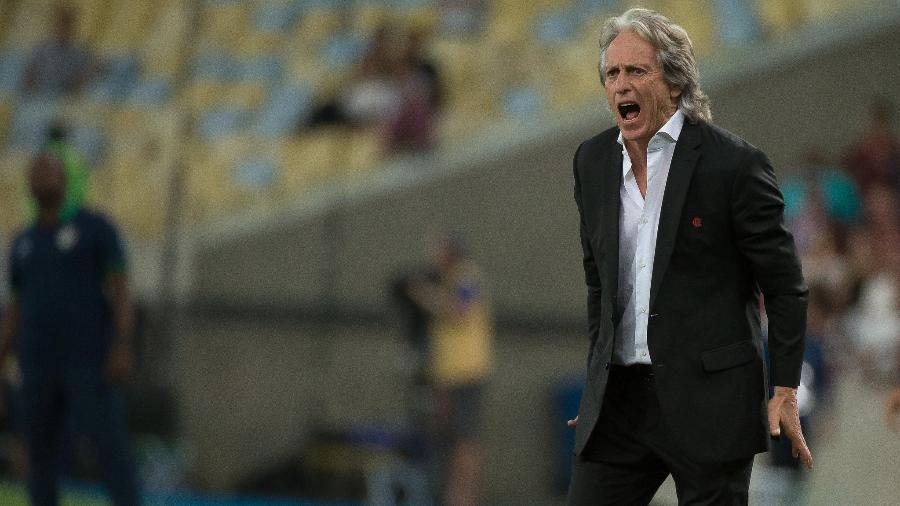 Jorge Jesus comandando o Flamengo pelo Campeonato Brasileiro - Alexandre Vidal/Flamengo