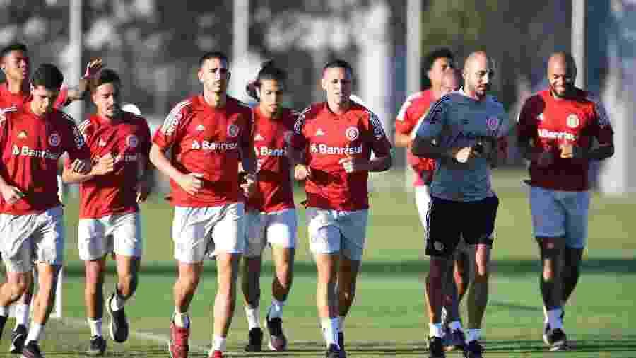 Treinamento do Inter ocorreu o CT do clube, torcedores protestaram do lado de fora - Ricardo Duarte/Internacional