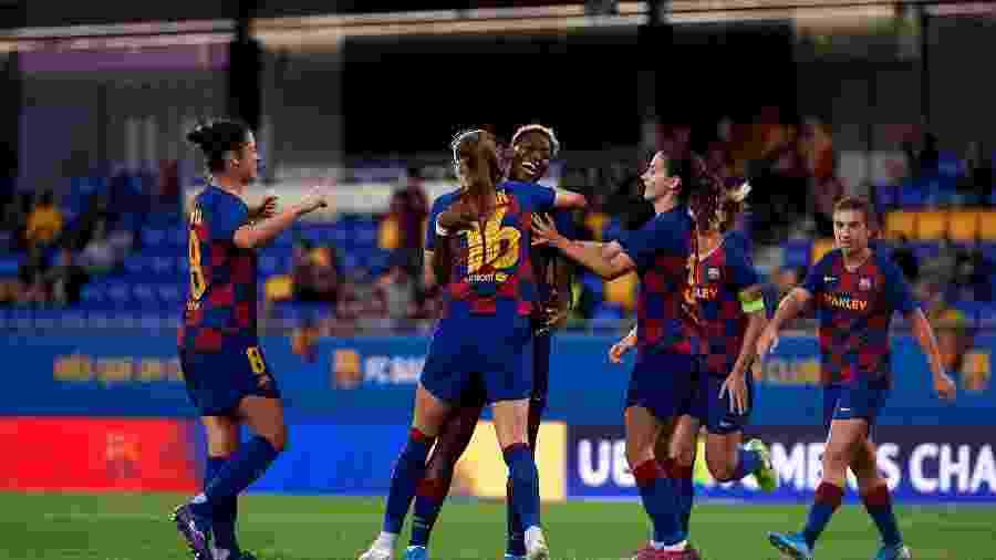 Com o fim do Campeonato Espanhol Feminino, o Barcelona é declarado campeão  - Alex Caparros/Getty Images