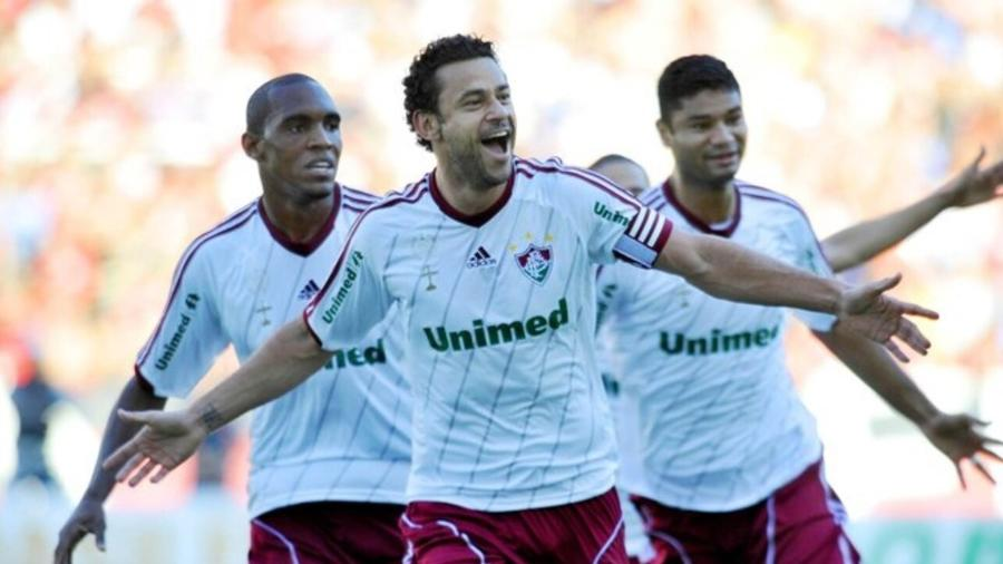 Fred comemora gol do Fluminense em jogo do Brasileirão de 2012 - Divulgação/Fluminense FC