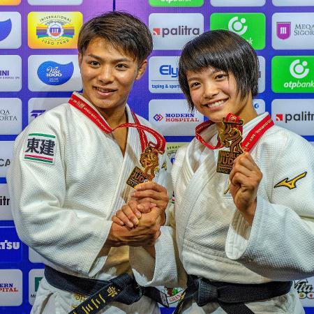 Em Baku-2018, Hifumi e Uta Abe, primeiros irmãos do judô japonês com ouro duplo em Mundiais - David Finch/Getty Images