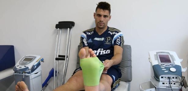 Moisés se recupera de uma lesão grave no pé e deve voltar em 4 meses - Cesar Greco/Ag Palmeiras