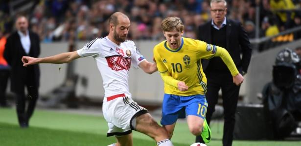 Forsberg marcou duas vezes na vitória da Suécia sobre Belarus