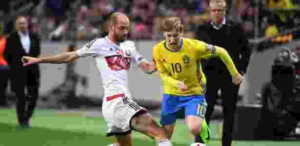 Forsberg marcou duas vezes na vitória da Suécia sobre Belarus - Fredrik Sandberg/TT News Agency