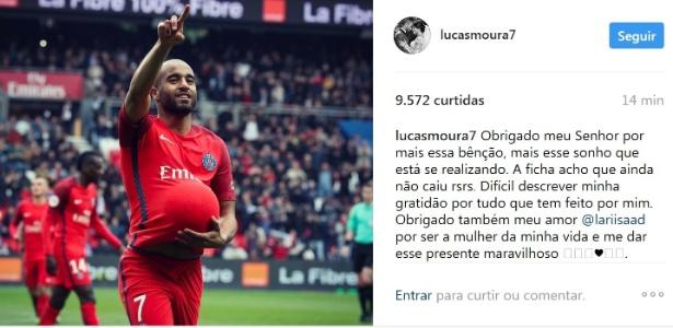 Lucas, do PSG, anuncia que vai ser pai pela primeira vez