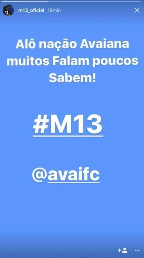 Maicon faz post se colocando no Avaí, mas depois apaga