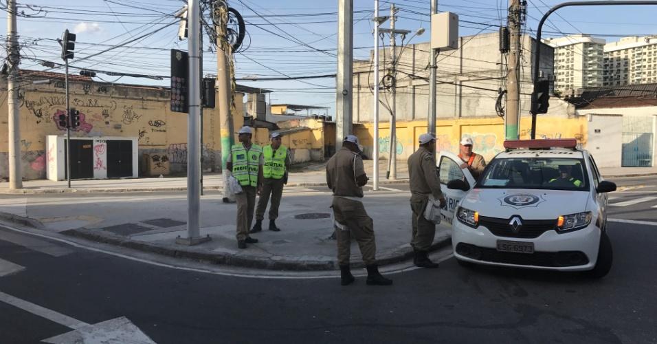 Guarda Municipal tem tarde tranquila nas imediações do Nilton Santos