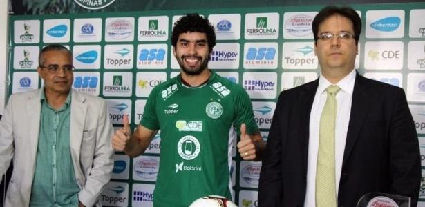 Bruno Mendes foi revelado pelo próprio Guarani e subiu com Vadão, em 2012 - Divulgação/Guarani F. C.