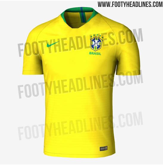 fb9002b8f0 Site Footy Headlines vaza suposta camisa da seleção brasileira para a Copa  do Mundo
