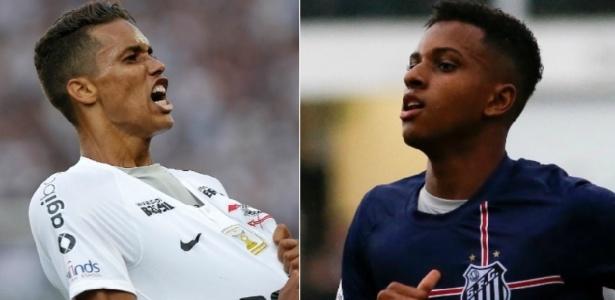 Pedrinho e Rodrygo chegam para clássico Corinthians e Santos como destaques dos times