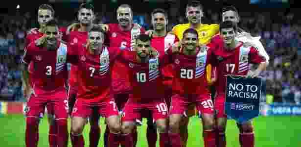 Seleção de Gibraltar é repleta de parentes que fizeram história com suas primeiras vitórias oficiais - Gonzalo Arroyo Moreno/Getty Images