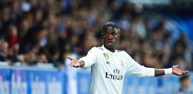 Vinicius Jr durante a derrota do Real Madrid para o Alavés, por 1 a 0