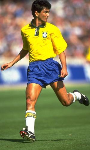 Bebeto, durante amistoso da seleção brasileira em 1992