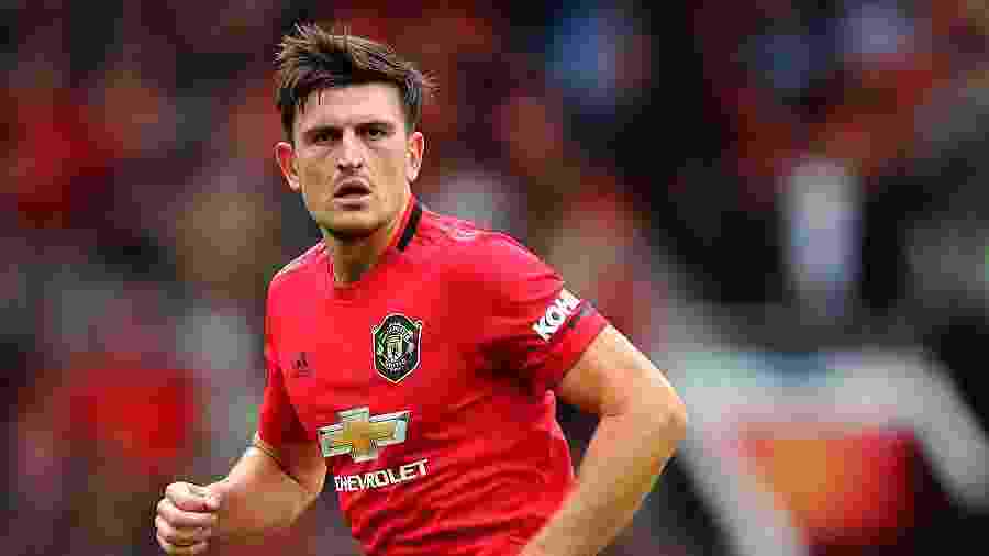Harry Maguire foi escolhido para ocupar o posto de capitão do Manchester United - Julian Finney/Getty Images