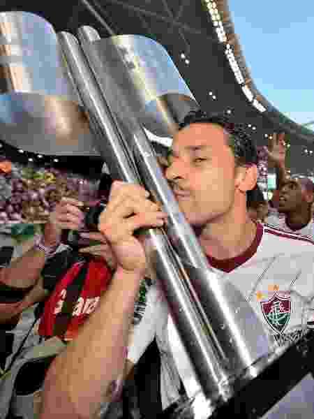 Liderado pelo capitão Fred, o Fluminense comemora o título do Campeonato Brasileiro de 2012 - Buda Mendes/LatinContent via Getty Images - Buda Mendes/LatinContent via Getty Images