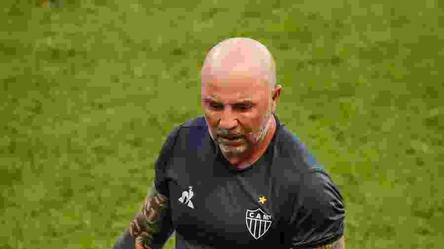 Jorge Sampaoli, técnico do Atlético-MG, ainda quer camisa 9 e goleiro no mercado da bola - Bruno Cantini/Atlético-MG