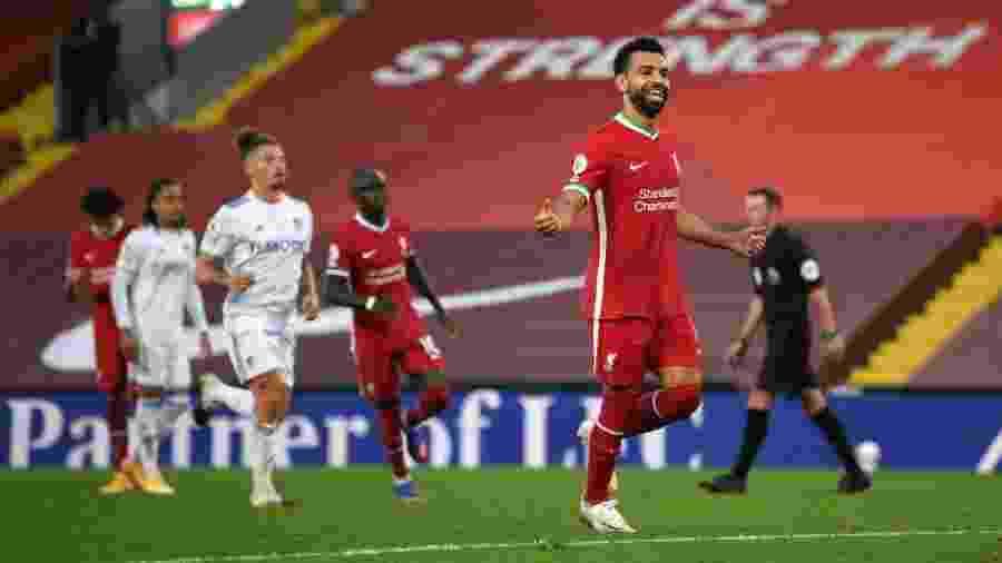 Egípcio foi o herói da vitória do Liverpool na primeira rodada do Campeonato Inglês - Shaun Botterill/Getty Images