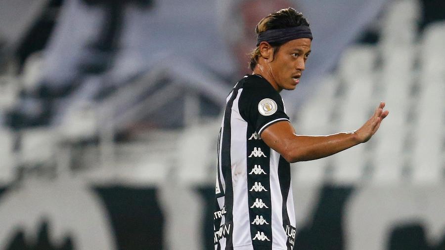 Honda, do Botafogo, em duelo com o Vasco, pela Copa do Brasil - Vitor Silva/Botafogo