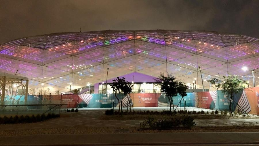 Education City, um dos estádios que sediou o Mundial de Clubes 2020 e sediará a Copa do Mundo 2022 - Tiago Leme