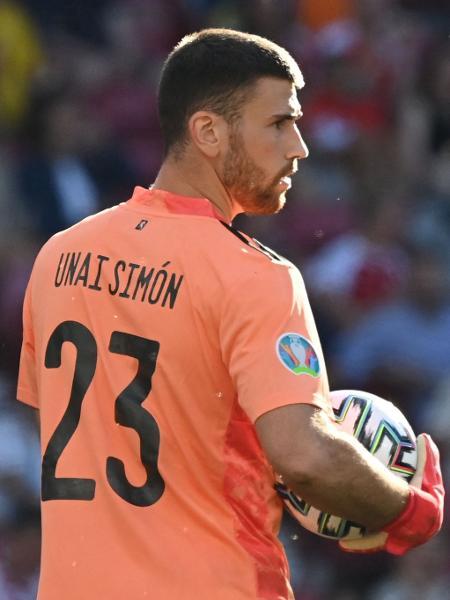 Unai Simón, goleiro da Espanha - Jonathan NACKSTRAND / POOL / AFP