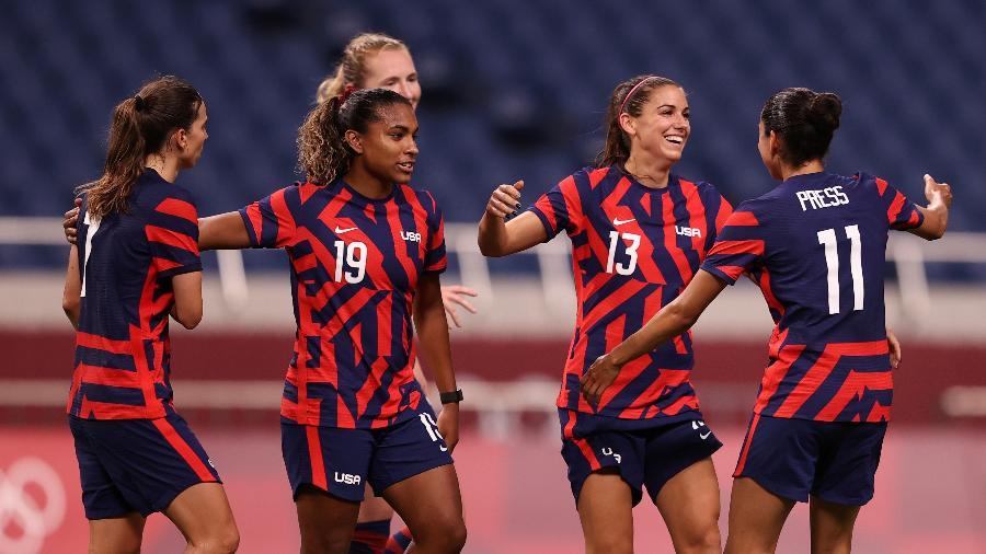 EUA goleou a Nova Zelândia por 6 a 1 na fase de grupos e encaminhou a classificação - Francois Nel/Getty Images