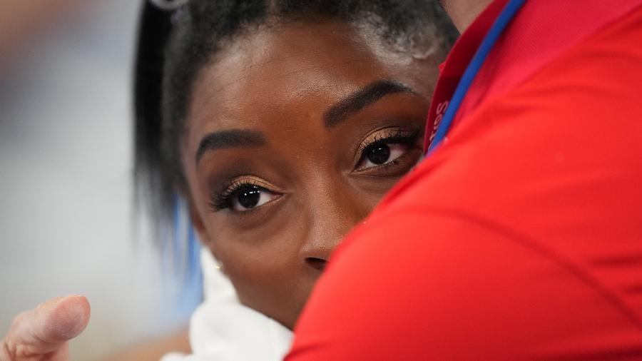 Norte-americana Simone Biles decidiu não participar da maioria das competições para cuidar de sua saúde mental - Mustafa Yalcin/Anadolu Agency via Getty Images
