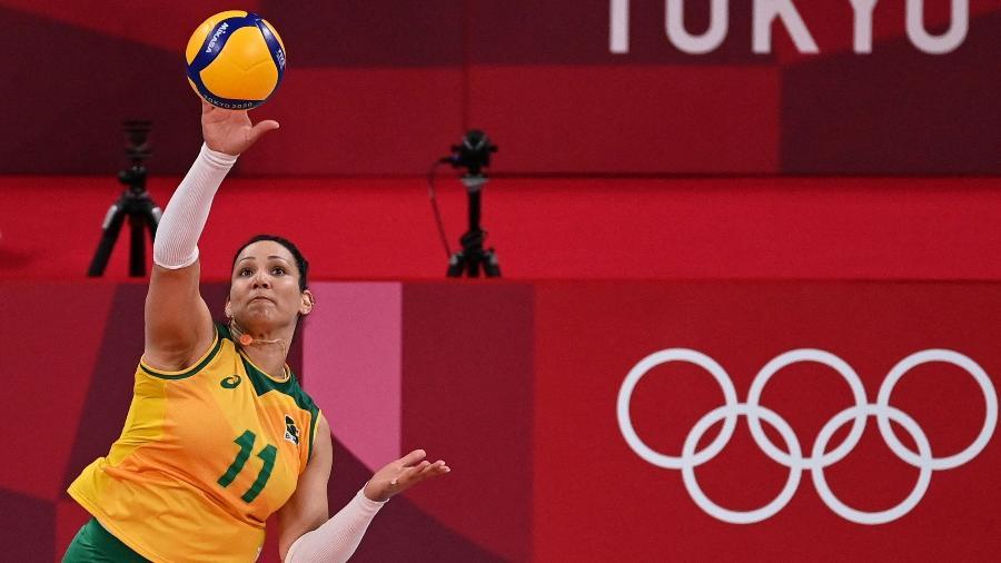 Tandara durante os Jogos Olímpicos de Tóquio - ANGELA WEISS / AFP