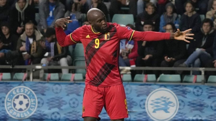 Lukaku comemora gol marcado pela Bélgica contra a Estônia - REUTERS