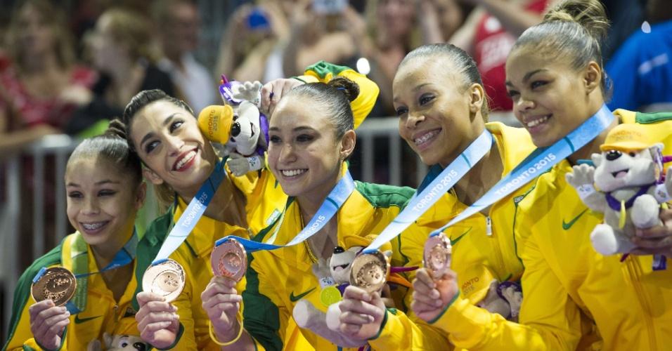 Brasileiras da ginástica ficam com a medalha de bronze no Pan de Toronto