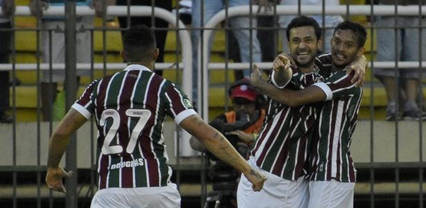 Fred marcou o gol da vitória do Fluminense sobre o Botafogo no Campeonato Brasileiro