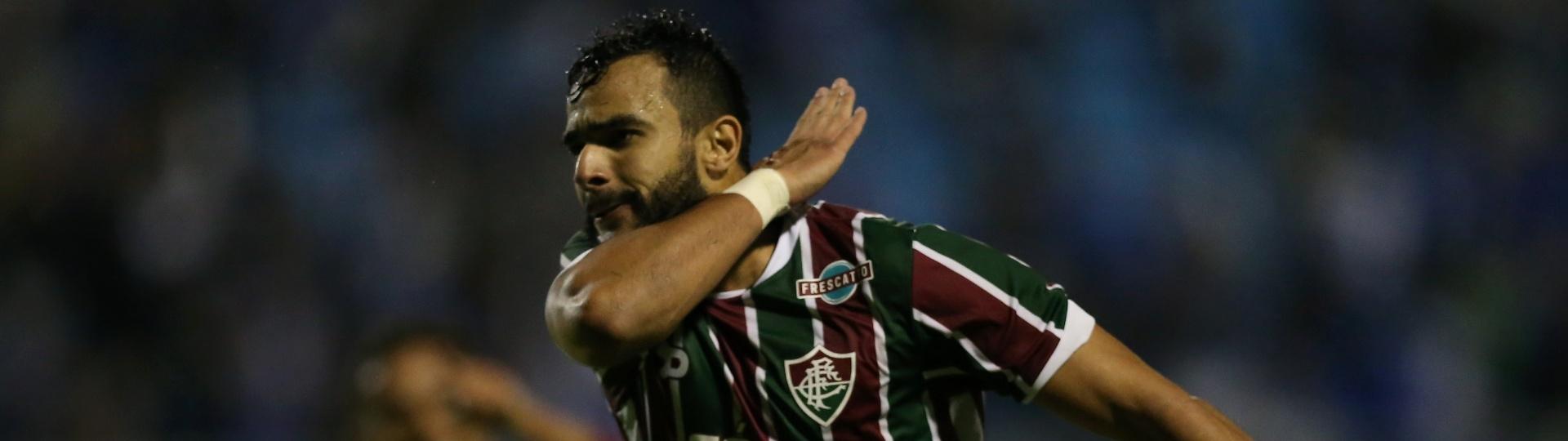 Henrique Ceifador comemora mais um gol com a camisa do Fluminense