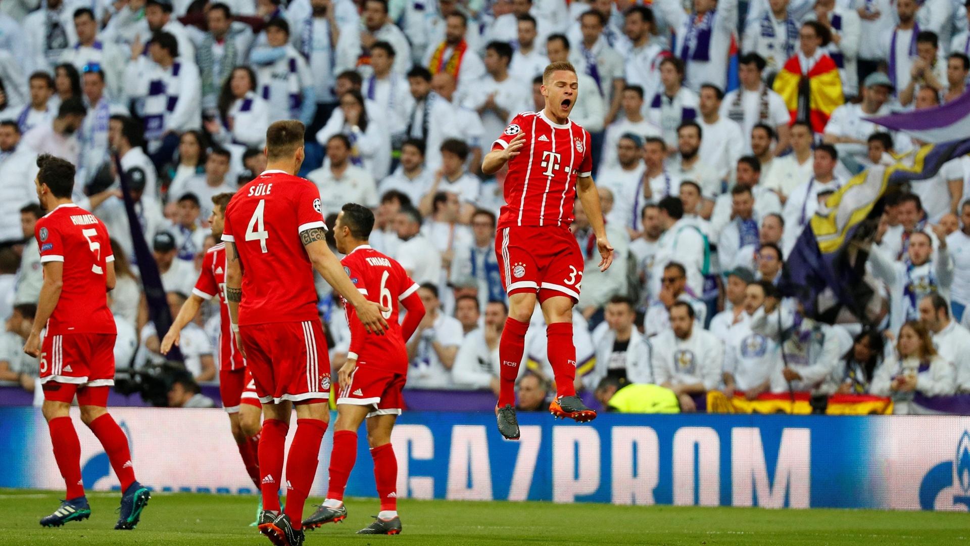 Kimmich festeja o seu gol marcado diante do Real Madrid