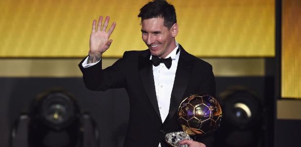 Messi durante a cerimônia do prêmio Bola de Ouro em 2016 - Stuart Franklin - FIFA /Getty Images