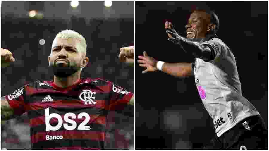 Gabigol encontra-se em alta no Flamengo, e Ribamar busca retomar espaço no Vasco - Colagem de fotos de Bruno Baketa/AGIF e Thiago Ribeiro/AGIF