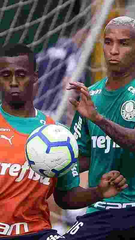 Carlos Eduardo e Deyverson disputam bola durante treino do Palmeiras - Cesar Greco/Ag. Palmeiras/Divulgação