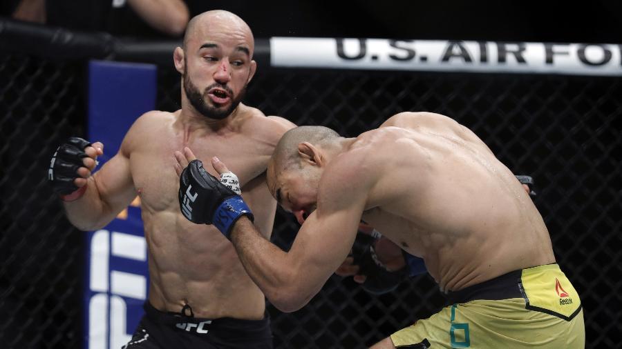 Marlon Moraes é o atual primeiro colocado no ranking peso-galo - Steve Marcus/Getty Images/AFP