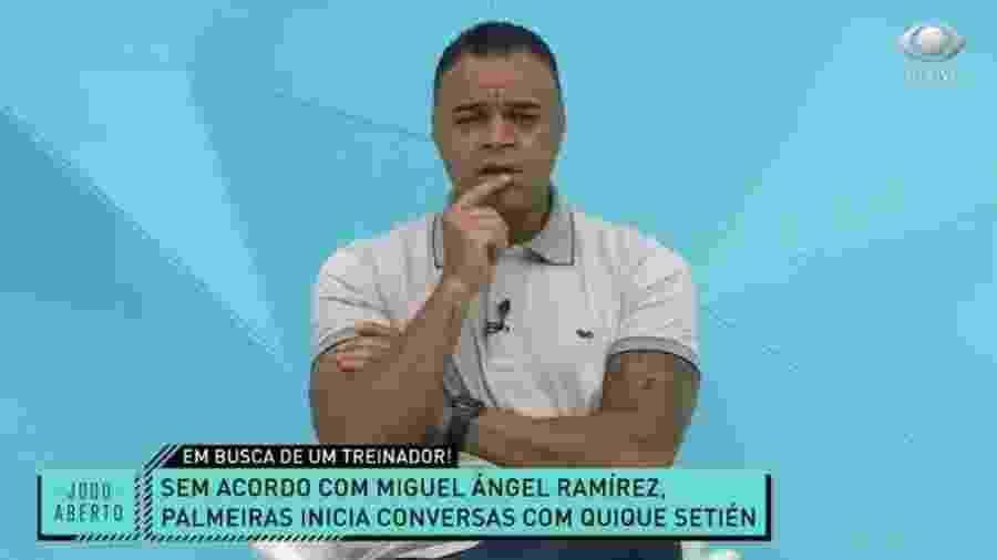 Denílson compara Setíen, alvo do Palmeiras, a Fernando Diniz - Reprodução/Band