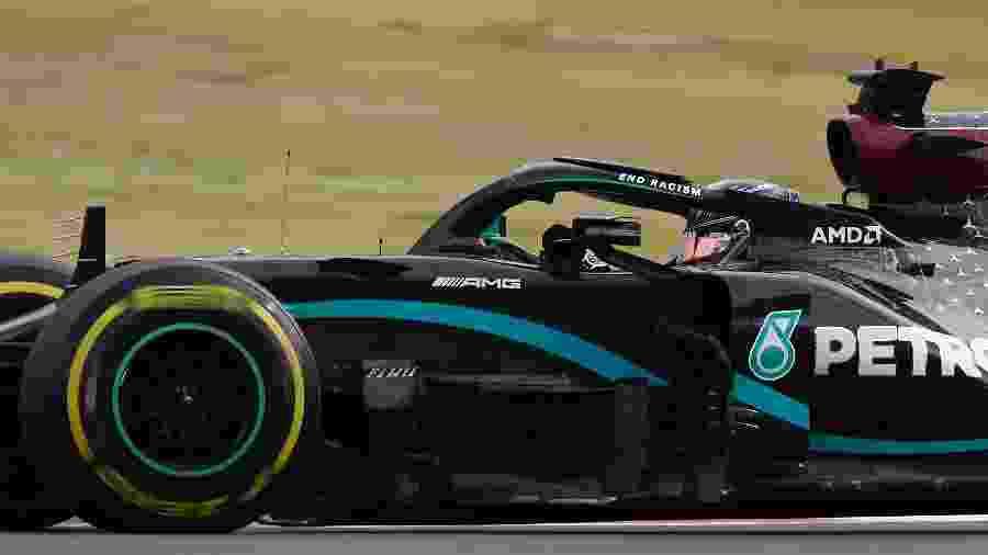 Lewis Hamilton durante o Grande Prêmio de Portugal - Pool/Getty Images