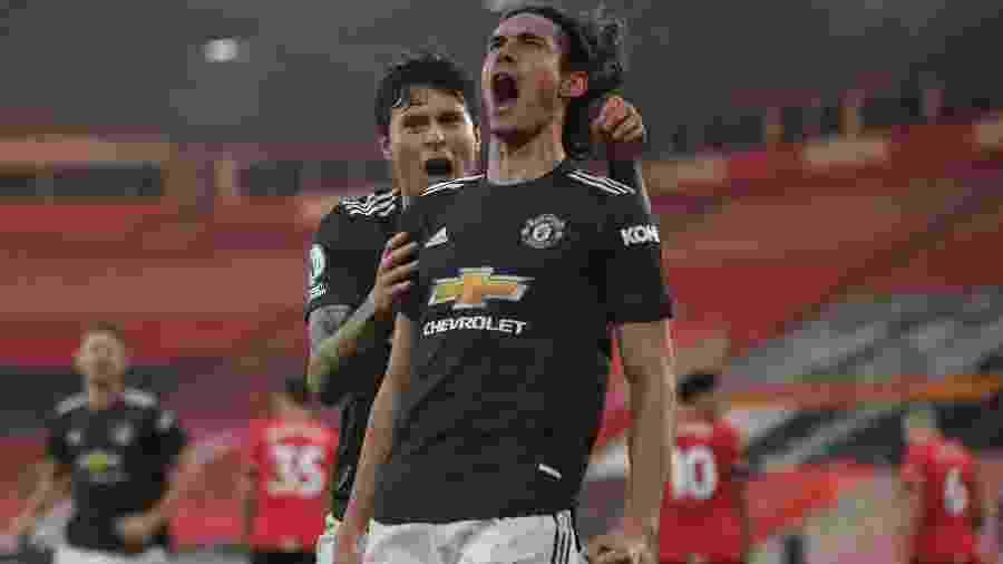 Cavani marcou duas vezes contra o Southampton - MIKE HEWITT/AFP