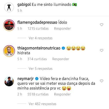 Neymar desafia Gabigol a reproduzir dancinha em caso de gol pela seleção - Reprodução/Instagram