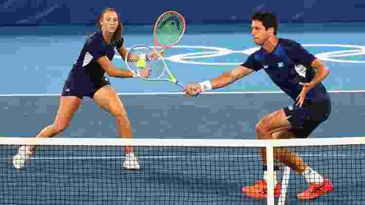 Marcelo Melo e Luisa Stefani, tênis duplas mistas - Mike Segar/Reuters - Mike Segar/Reuters