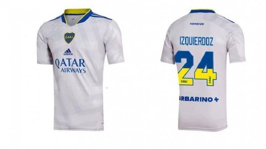 Boca lançou camisa com números bicolores - Divulgação CABJ