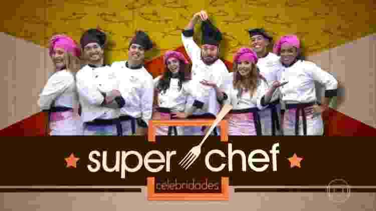 Diego Hypolito (segundo a partir da esquerda) participou do Super Chef em 2017 - Reprodução - Reprodução