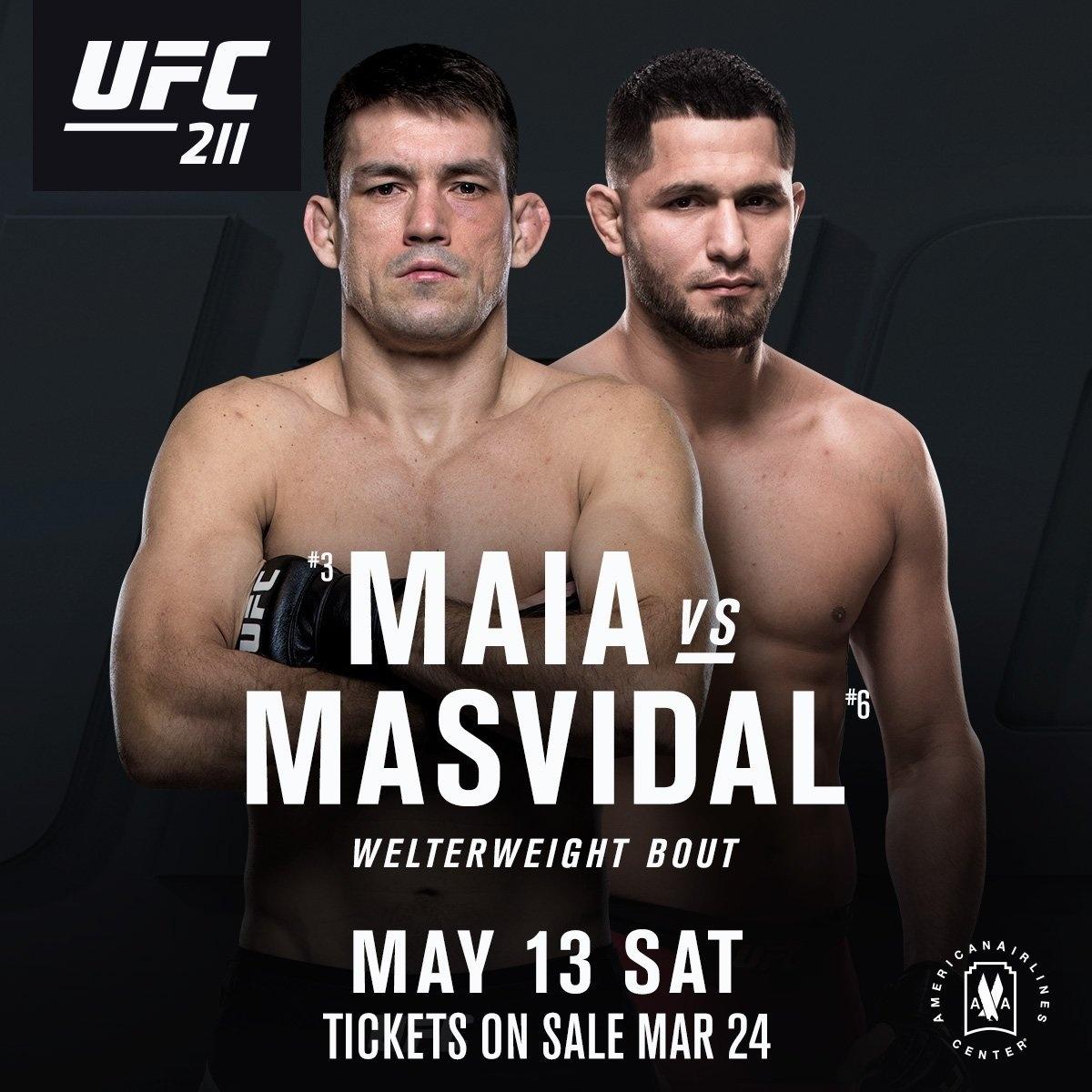 UFC anuncia confronto entre Demian Maia e Jorge Masvidal