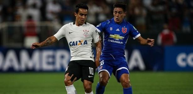 Jadson marcou o segundo gol do Corinthians contra os chilenos