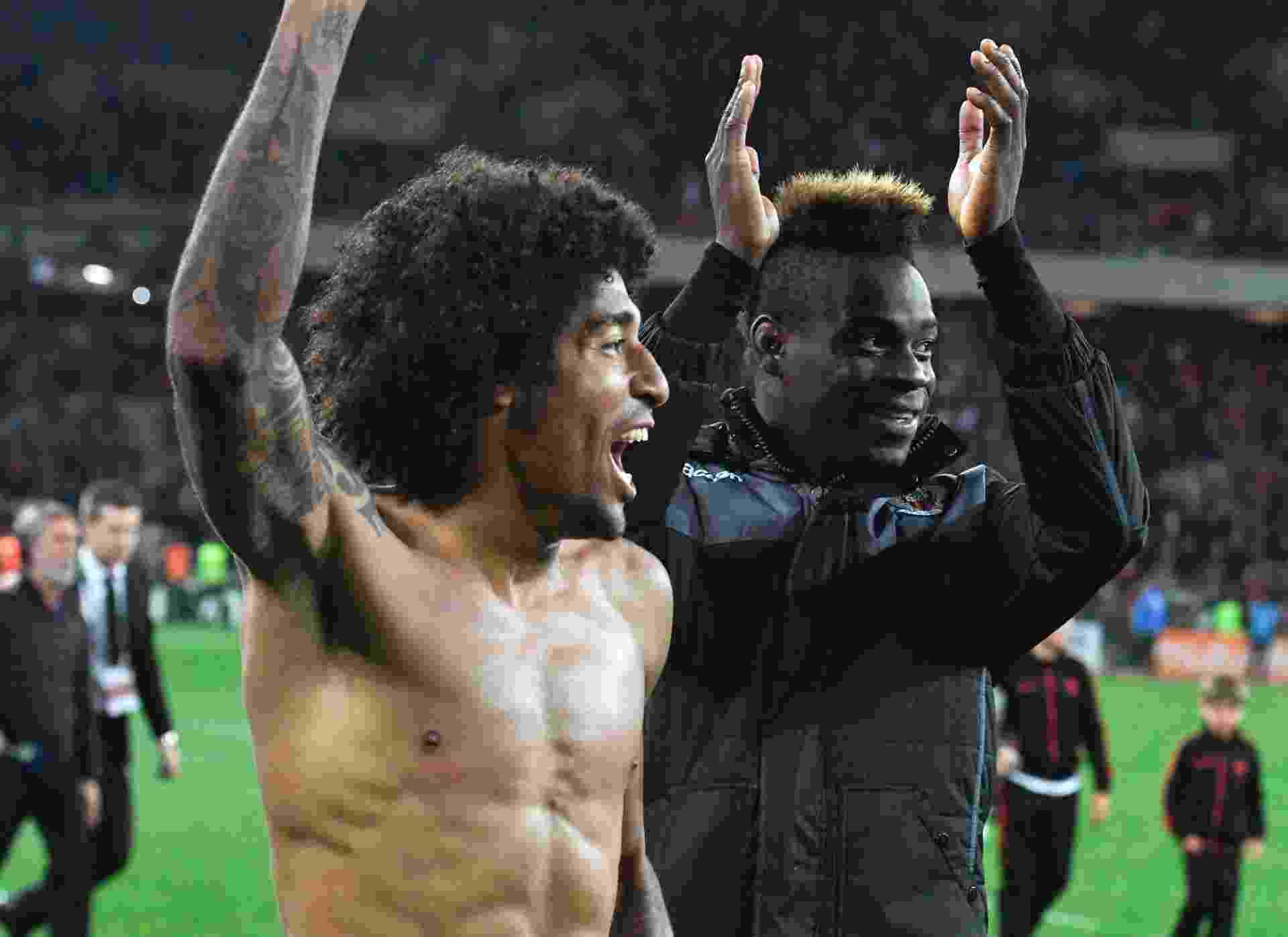 Dante e Balotelli comemoram vitória do Nice sobre o PSG - undefined