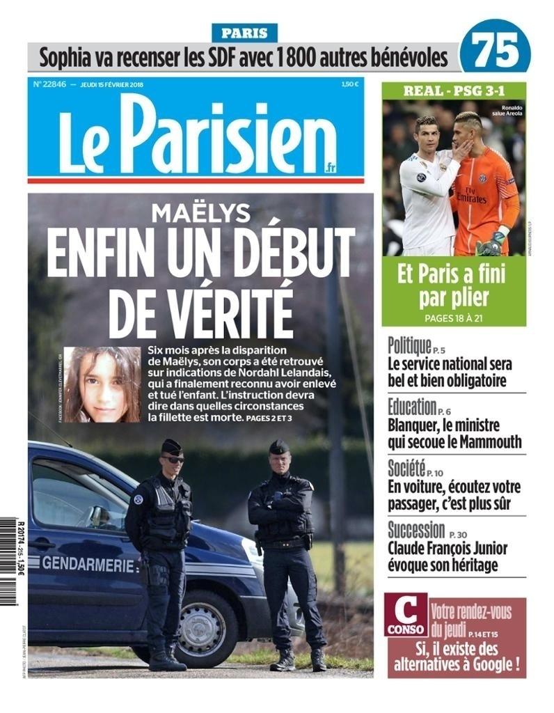 Capa Le Parisien (15/2)