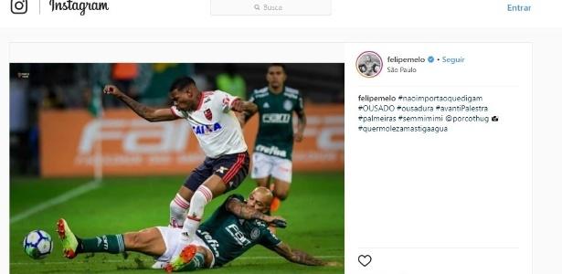 Imagem que Felipe Melo postou nesta quinta-feira em seu Instagram
